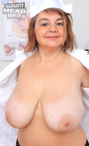 Sexy mature babe Darhuse puts on the nurses shoes to give you the most hardcore pussy pleasing happening around the doctors office