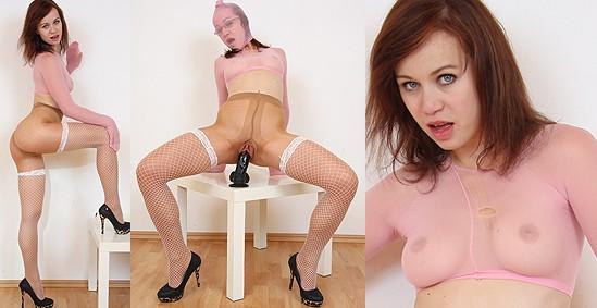 Emma Pearl nylon mask and face mask porn fetish