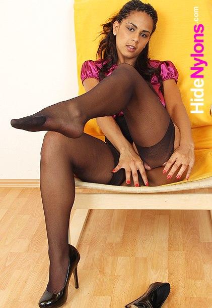 Nylon pantyhose legs girl Isabella Chrystin