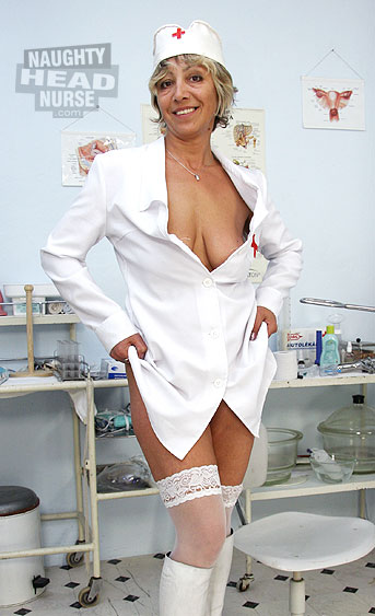 Aged amateur wife is a head nurse in a gyno clinic. Her favorite medical procedure is a stethoscope insertion therapy.